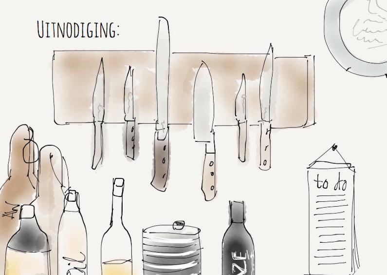 Uitnodigingen - Uitnodiging Kitchen Tools