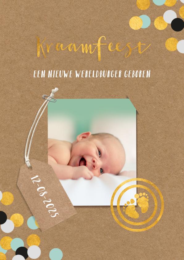 Uitnodigingen - Uitnodiging kraamfeest baby jongen paspoort