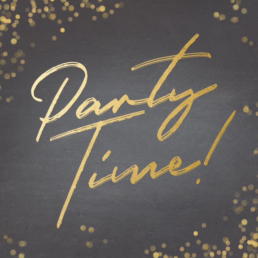 Uitnodigingen - Uitnodiging krijtbord Party Time!