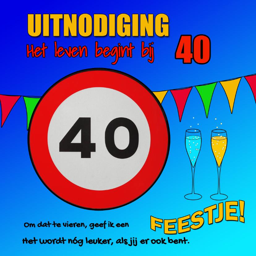 Uitnodigingen - Uitnodiging: leven begint bij 40