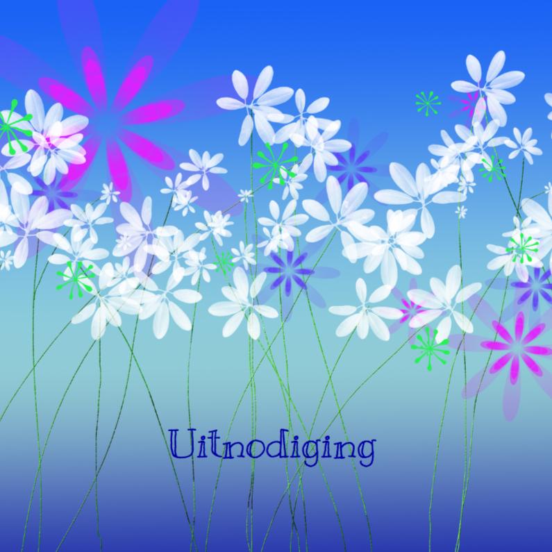 Uitnodigingen - Uitnodiging met bloemetjes