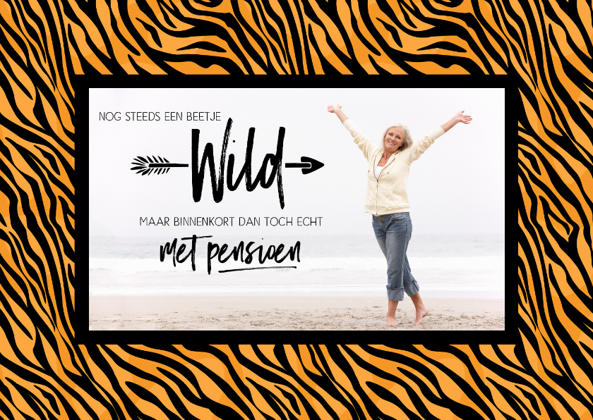 Uitnodigingen - Uitnodiging met pensioen tijgerprint