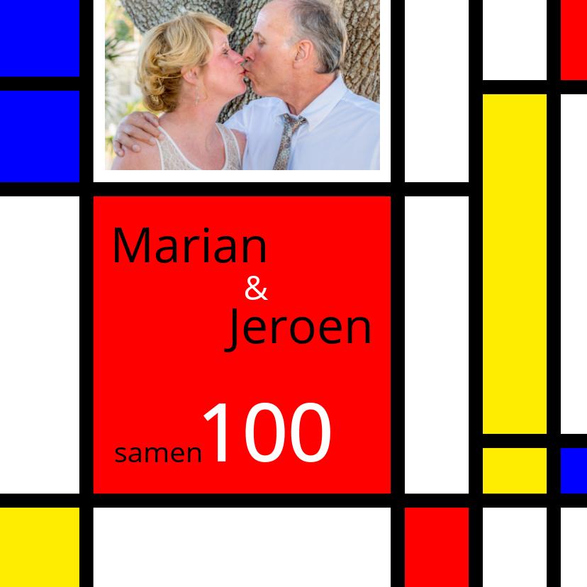 Uitnodigingen - Uitnodiging Mondriaan samen 100