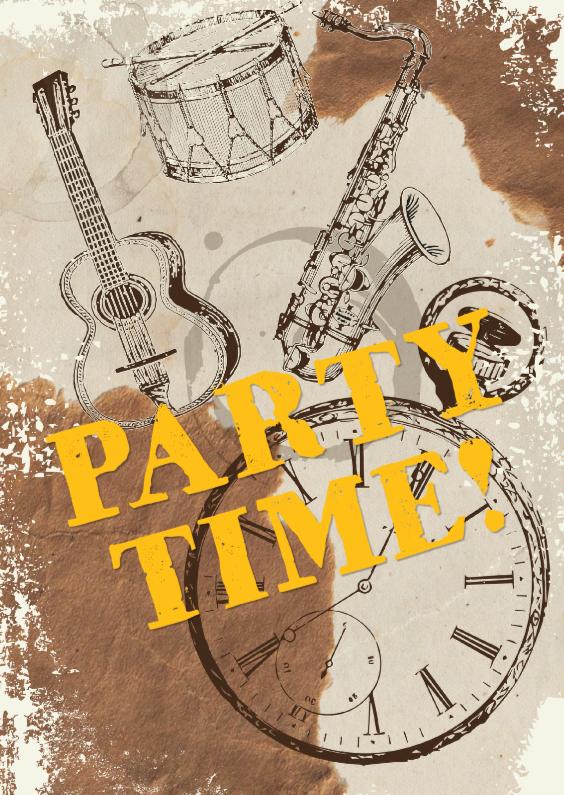 Uitnodigingen - Uitnodiging party music