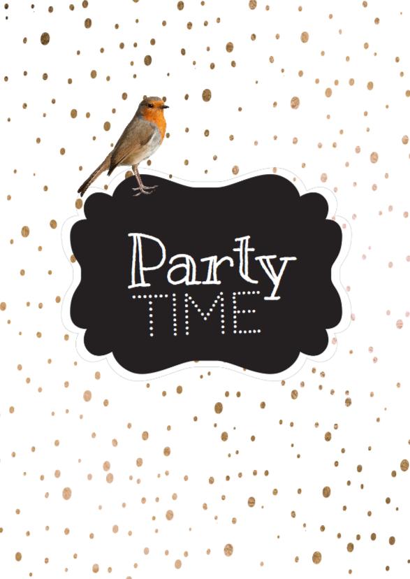 Uitnodigingen - Uitnodiging  party time -  LO