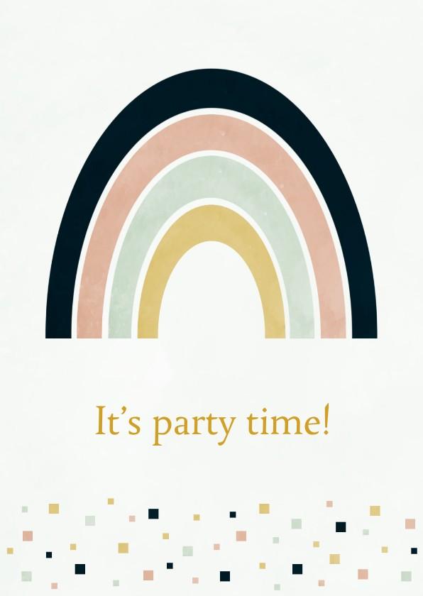 Uitnodigingen - Uitnodiging Rainbow