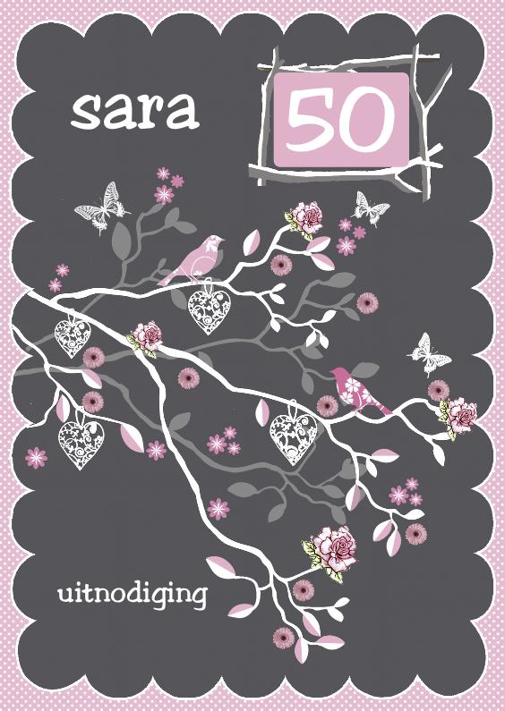 Uitnodigingen - uitnodiging sara