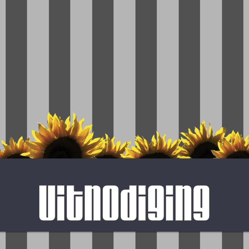 Uitnodigingen - Uitnodiging - sunflowers
