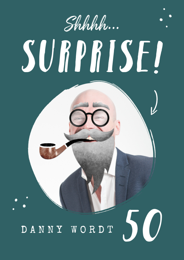 Uitnodigingen - Uitnodiging surprise party humor ouder worden