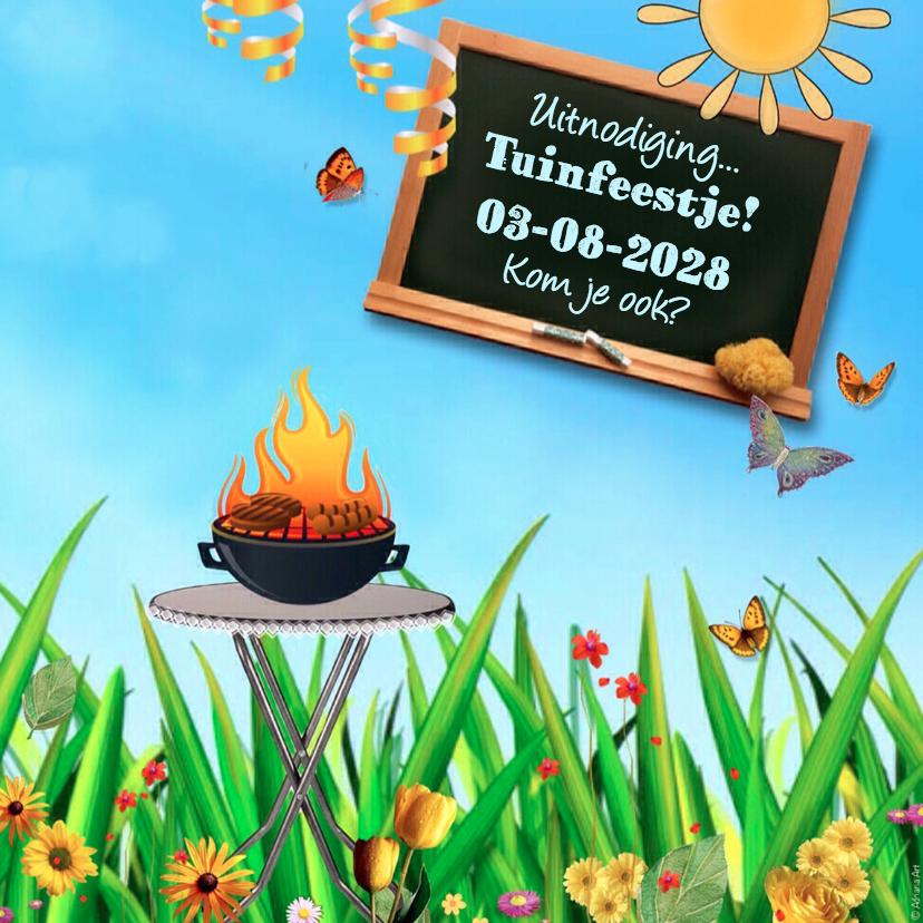 Uitnodigingen - Uitnodiging tuinfeest BBQ
