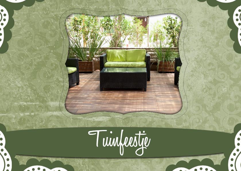 Uitnodigingen - Uitnodiging tuinfeestje - BK