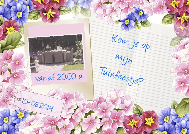 Uitnodigingen - uitnodiging tuinfeestje