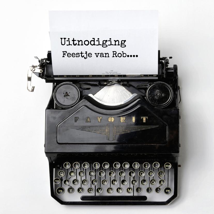 Uitnodigingen - uitnodiging typemachine av