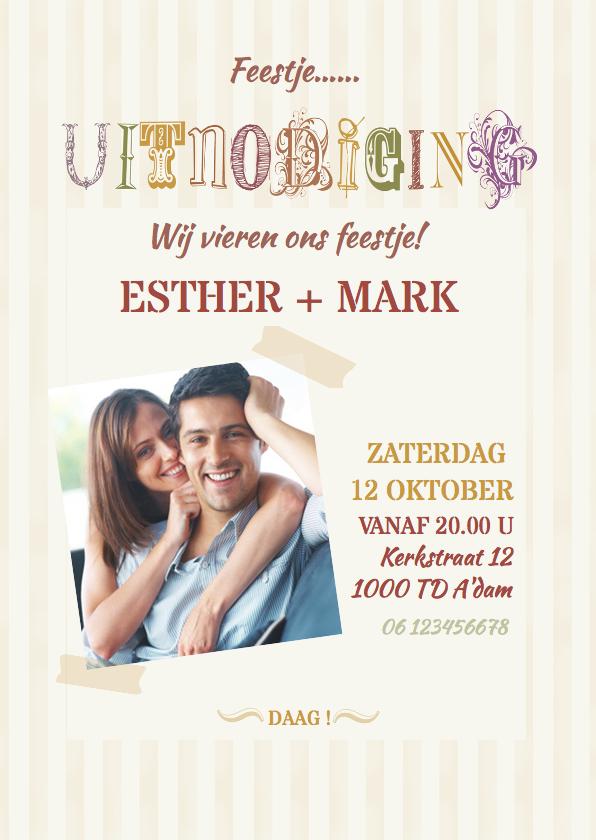Uitnodigingen - Uitnodiging typografie av