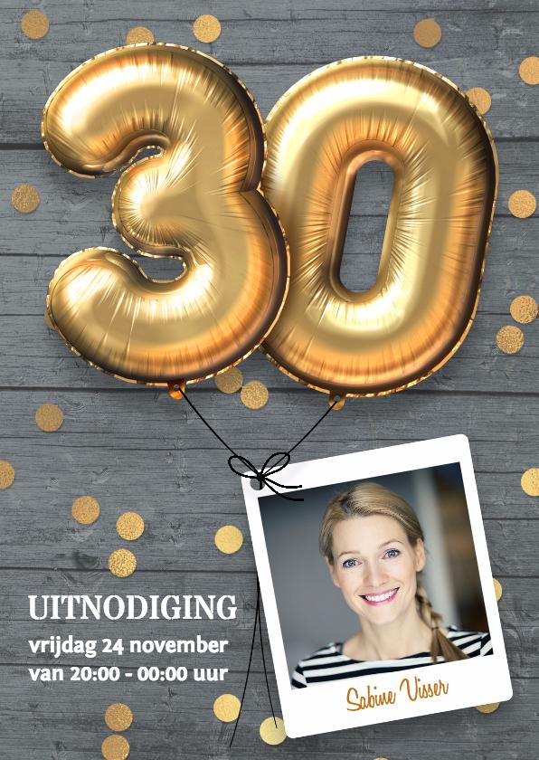 uitnodiging 30 jaar Uitnodiging verjaardag 30 jaar   Uitnodigingen | Kaartje2go uitnodiging 30 jaar