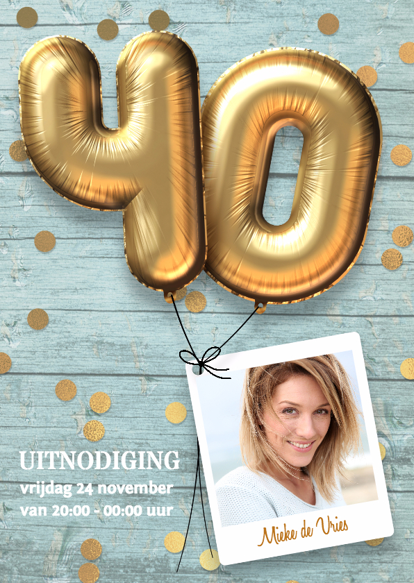 uitnodiging voor 40 jaar Uitnodiging verjaardag 40 jaar feest | Kaartje2go uitnodiging voor 40 jaar