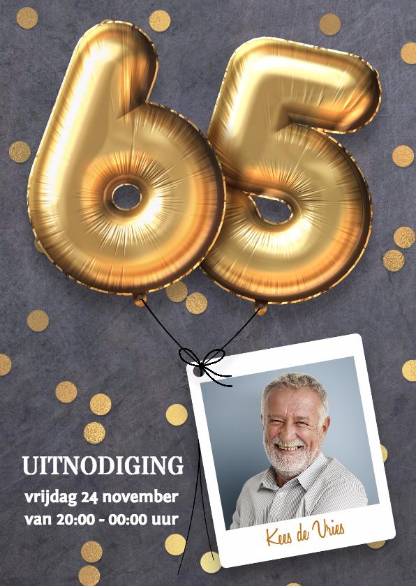 Uitnodigingen - Uitnodiging verjaardag 65 jaar