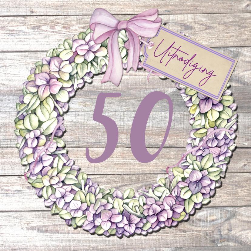 Uitnodigingen - uitnodiging verjaardag bloemen