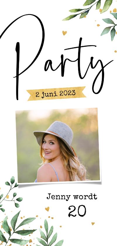 Uitnodigingen - Uitnodiging verjaardag botanisch