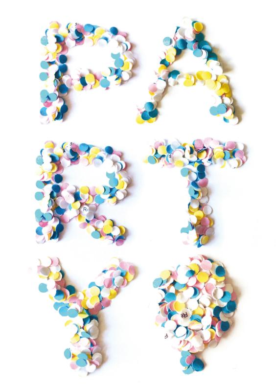 Uitnodigingen - Uitnodiging Verjaardag Confetti Party