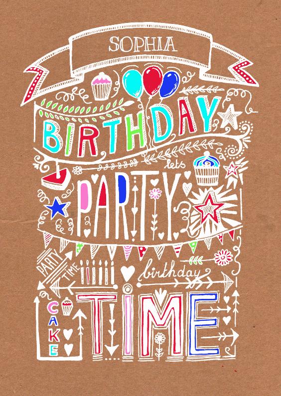 Uitnodigingen - Uitnodiging verjaardag craft