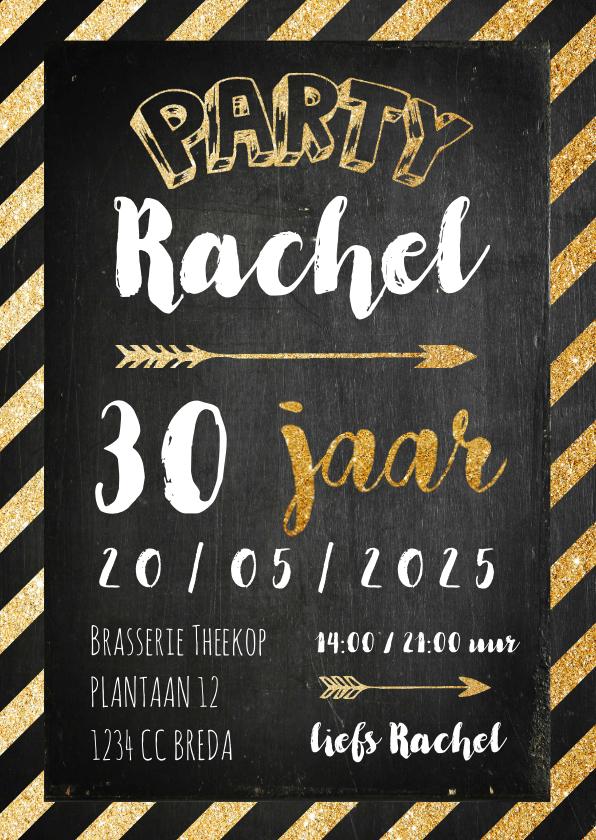 Uitnodigingen - Uitnodiging verjaardag krijtbord