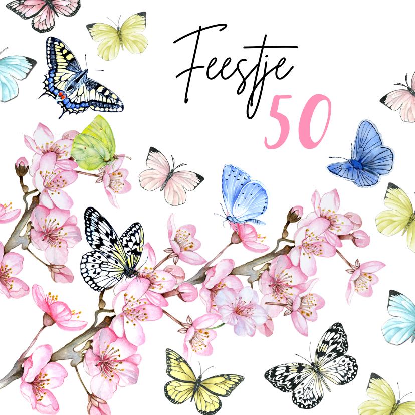 Uitnodigingen - Uitnodiging verjaardag vijftig