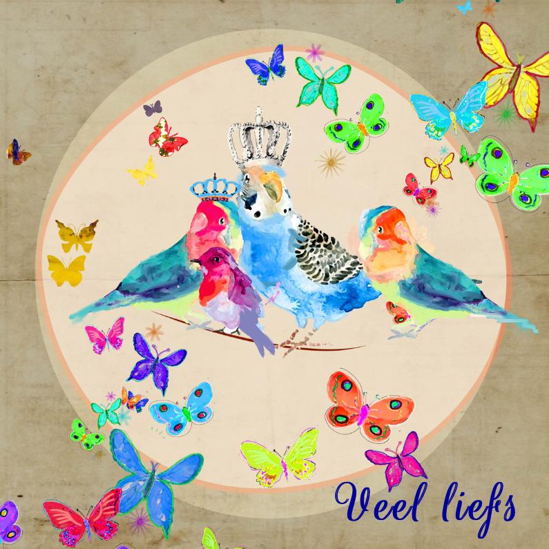 Uitnodigingen - Uitnodiging vogels en vlinders