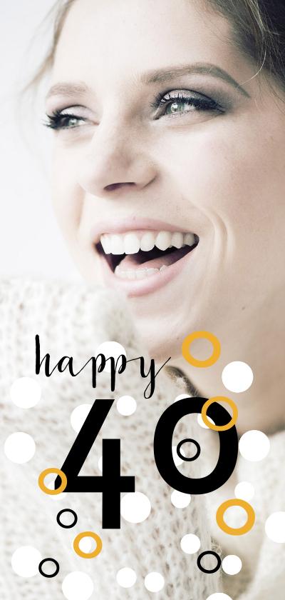 Uitnodigingen - Uitnodiging voor 40e verjaardag met stippen