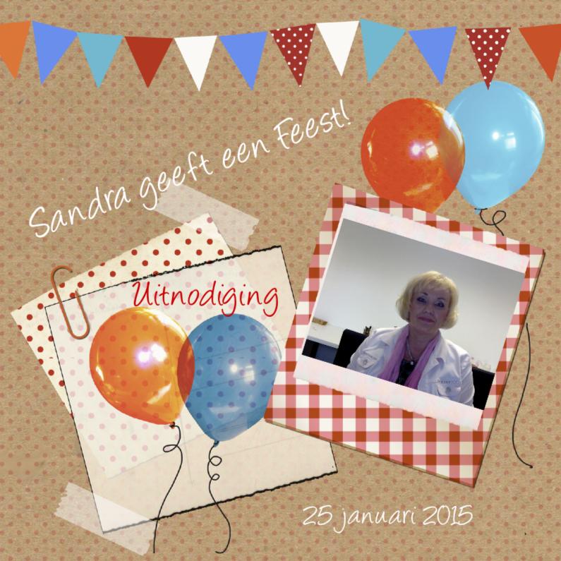 Uitnodigingen - Uitnodiging voor je feest balonnen