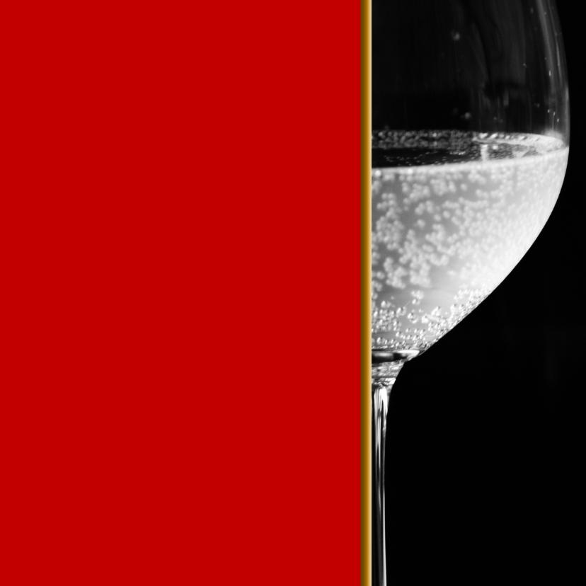 Uitnodigingen - Uitnodiging wijnglas chique RB
