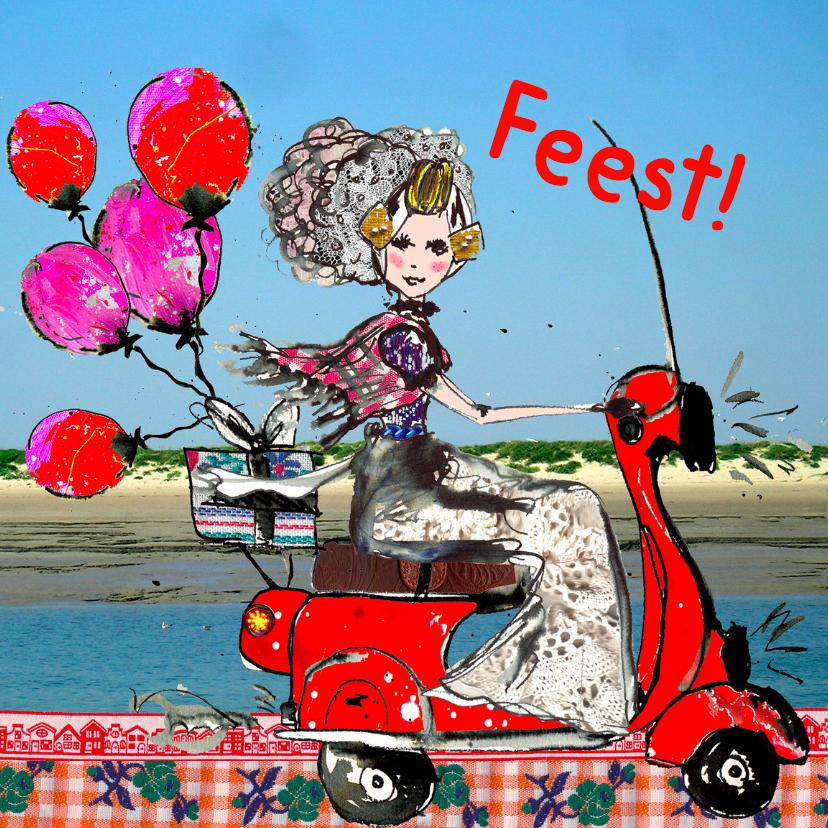 Uitnodigingen - Uitnodiging Zeeuws meisje Feest