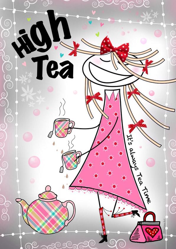 Uitnodigingen - Uitnodigingen High Tea H4Y