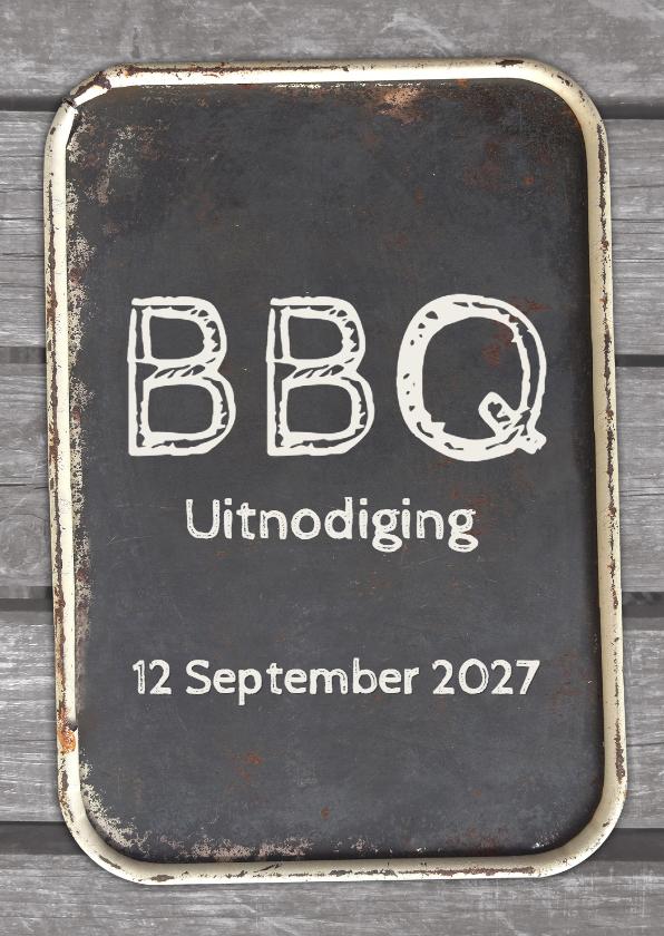 Uitnodigingen - uitnodigingskaart BBQ