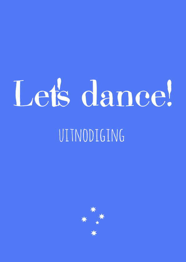 Uitnodigingen - uitnodigingskaart Dance