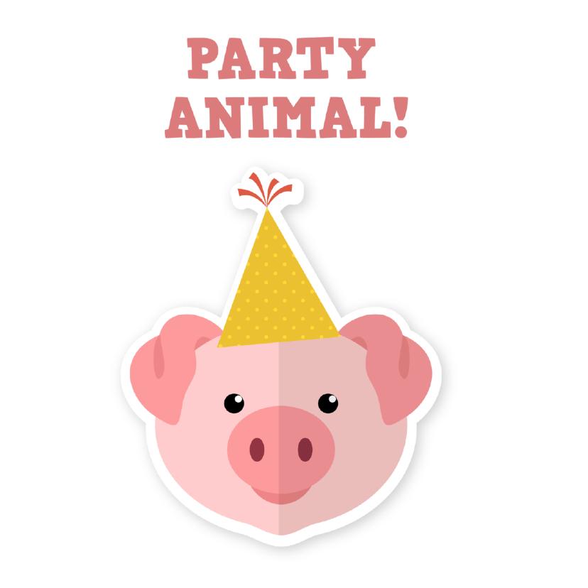 Uitnodigingen - uitnodigingskaart feestvarken ME