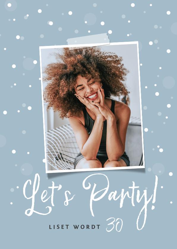 Uitnodigingen - Uitnodigingskaart surprise confetti foto stijlvol