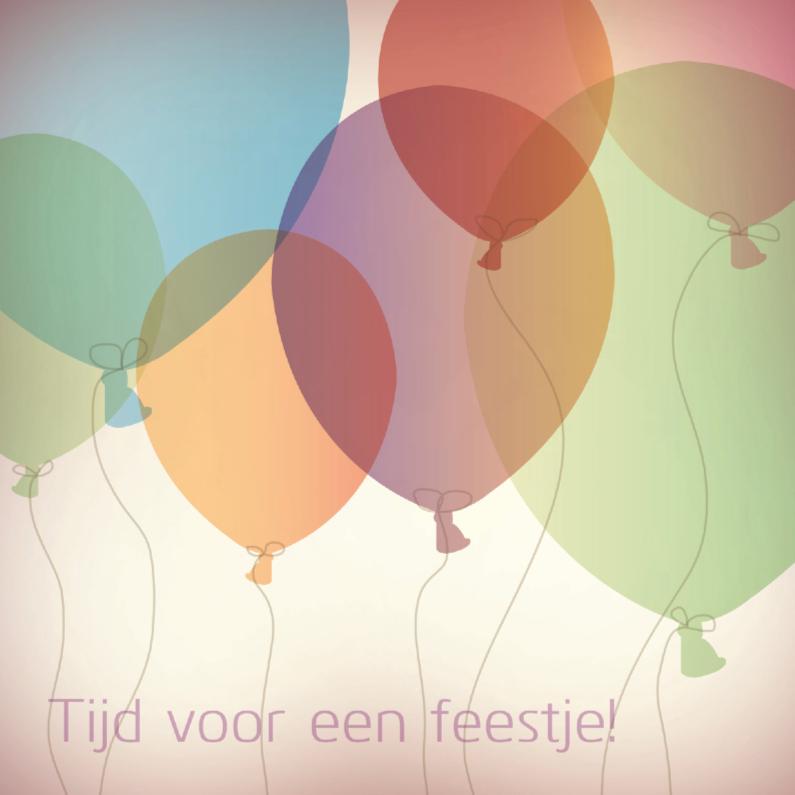 Uitnodigingen - Verjaadagfeest ballon 3