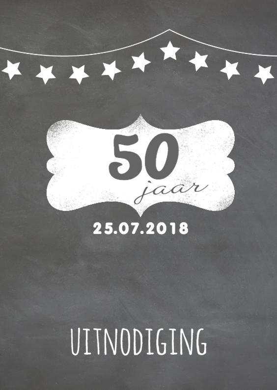 Uitnodigingen - Verjaardag krijtbord