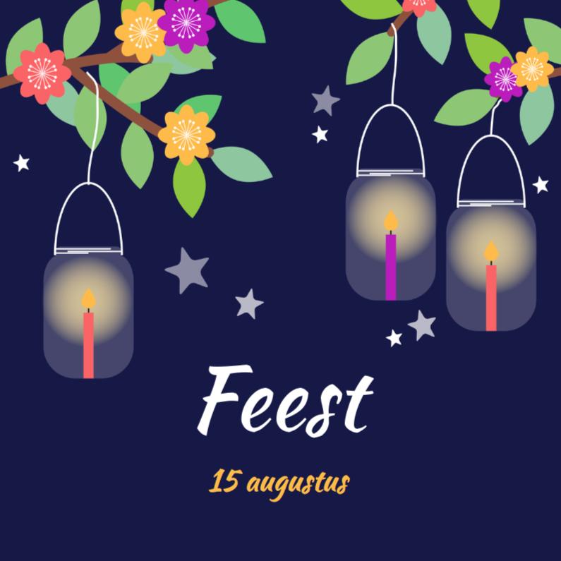 Uitnodigingen - Verjaardag lantaarn 1