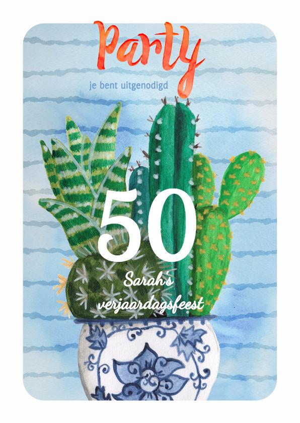 Uitnodigingen - Verjaardagsfeest Cactus Jarig