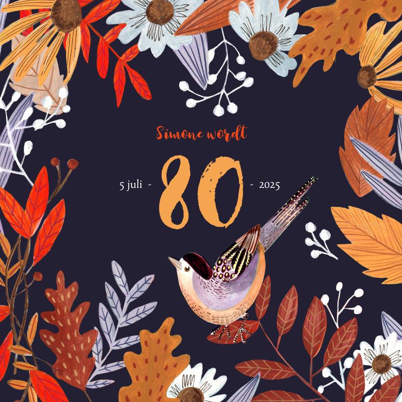 Uitnodigingen - Verjaardagsfeest herfstbladeren