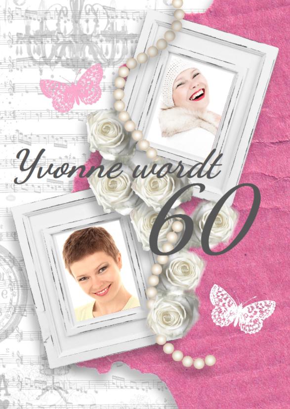 Uitnodigingen - Verjaardagsfeest pink romance