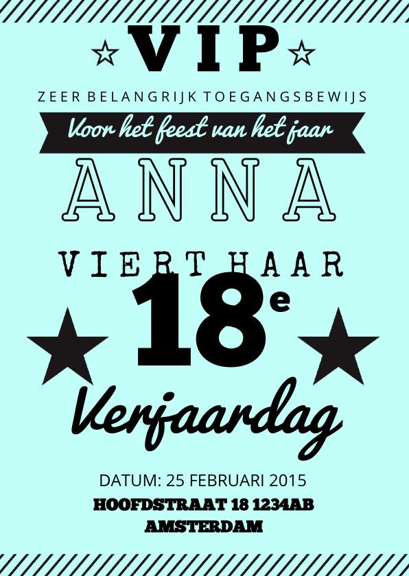 Uitnodigingen - Verjaardagsfeest uitnodiging affiche mint