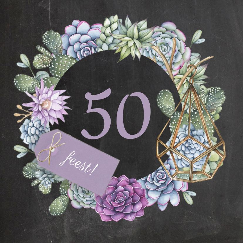 Uitnodigingen - Verjaardagsfeest vetplanten