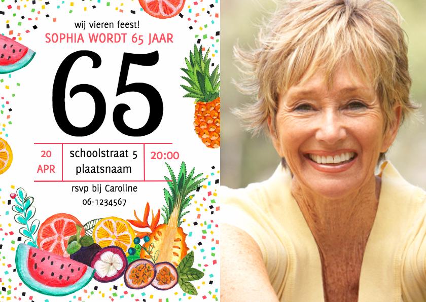 Uitnodigingen - Verjaardagsfeest zomer fruit