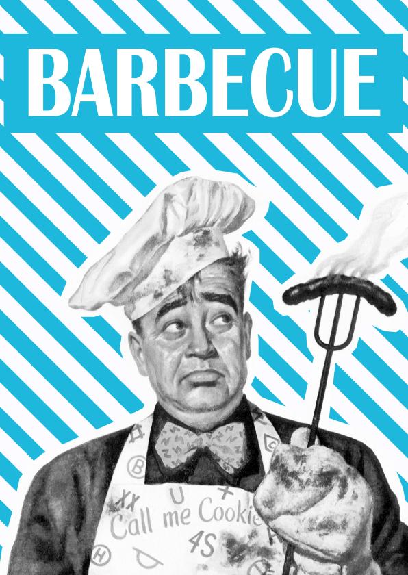 Uitnodigingen - Vintage barbeque