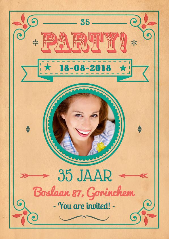 Uitnodigingen - Vintage Poster Party 1LS3