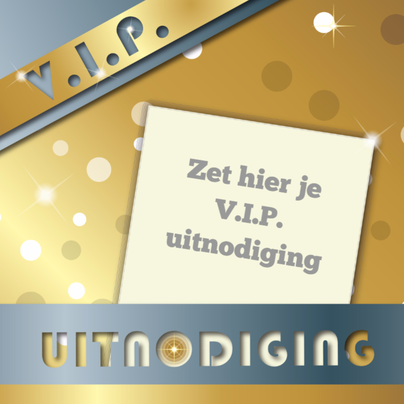 Uitnodigingen - VIP uitnodiging goud en zilver