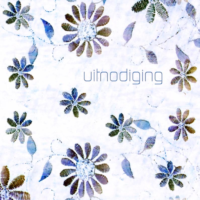 Uitnodigingen - vrolijk blauwe bloemen